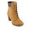 Timberland Women's Glancy 6 Inch Boots - Wheat Nubuck: Image 2