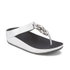 FitFlop Women's Superchain Imi-Leather Toe Post Sandals - Silver: Image 2