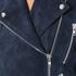 Gestuz Women's Daya Suede Biker Jacket - Blue: Image 5