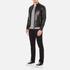 J.Lindeberg Men's Trey Leather Jacket - Black: Image 4