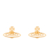 Vivienne Westwood Jewellery Women's Thin Lines Flat Orb Stud Earrings - Gold: Image 1