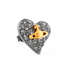 Vivienne Westwood Jewellery Women's Tiny Diamante Heart Stud Earrings - Black: Image 2