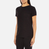 Helmut Lang Women's Medium Weight Cotton Jersey Slash Hem T-Shirt - Black: Image 2