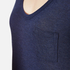 T by Alexander Wang Women's Classic Cropped T-Shirt with Chest Pocket - Marine: Image 5