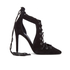 Kendall + Kylie Women's Angel Suede Lace Front Court Shoes - Black: Image 1