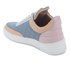 Filling Pieces Women's Quilted Low Top Trainers - Moon Pink/Blue: Image 4