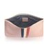 Clare V. Women's Margot Flat Clutch Bag - Blush Navy Cream/Red Stripes: Image 5