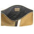 Clare V. Women's Supreme Flat Clutch Bag - Camel Black/White Stripes: Image 5