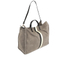 Clare V. Women's Supreme Simple Tote Bag - Dark Grey Suede With Black/White Stripes: Image 3