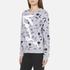 KENZO Women's Dandelion Print and Logo Sweatshirt - Pale Grey: Image 2
