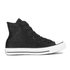 Converse Women's Chuck Taylor All Star Sting Ray Leather Hi-Top Trainers - Black/Black/White: Image 1