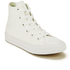 Converse Kids Chuck Taylor All Star II Tencel Canvas Hi-Top Trainers - White/White/Navy: Image 2