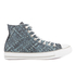 Converse Men's Chuck Taylor All Star Denim Woven Hi-Top Trainers - Polar Blue/White/Dolphin: Image 1