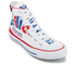 Converse Chuck Taylor All Star Warhol Hi-Top Trainers - White/Red/Blue: Image 2