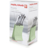 Morphy Richards 974802 5 Piece Knife Block Sage Green: Image 9