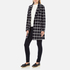 Maison Scotch Women's Bonded Wool Coat In Checks & Solids - Multi: Image 2