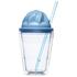 Sagaform Sweet Plastic Milkshake Cup 350ml - Blue: Image 1