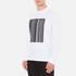 Alexander Wang Men's Barcode Logo Long Sleeve T-Shirt - White: Image 2