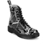 Dr. Martens Women's Pascal Patent Marble 8-Eye Boots - Black: Image 2