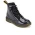 Dr. Martens Kids' Delaney Patent Leather Lace Boots - Black: Image 2