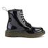 Dr. Martens Kids' Delaney Patent Leather Lace Boots - Black: Image 1