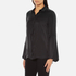 Gestuz Women's Maiden Silk Blouse With Bell Sleeves and Silk Buttons - Black: Image 2