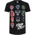 DC Comics Men's Suicide Squad Villain Skull T-Shirt - Black: Image 1