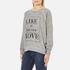 Wildfox Women's Like Button Kims Sweatshirt - Heather Vanilla Latte: Image 2