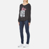 Wildfox Women's Wildfox Ca Perry Thermal Long Sleeve Top - Clean Black: Image 4