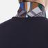 Versace Collection Men's Collar Detail Polo Shirt - Navy: Image 7