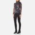Ganni Women's Delaney Mesh High Neck Top - Black Bouquet: Image 4