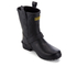 Barbour International Women's Matte Biker Wellington Boots - Black: Image 2
