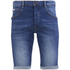 Crosshatch Men's Skylo Denim Shorts - Stone Wash: Image 1