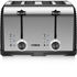 Tower T20008 4 Slice Linear Toaster - Black: Image 1