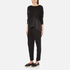 Paisie Women's Knitted Jumper with Silk Panel - Black: Image 4