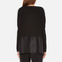 Paisie Women's Knitted Jumper with Silk Panel - Black: Image 3
