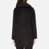 Paisie Women's Double Breasted Coat With Faux Fur Collar - Black: Image 3