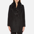 Paisie Women's Double Breasted Coat With Faux Fur Collar - Black: Image 1