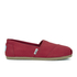 TOMS Women's Core Classics Slip-On Pumps - Red: Image 1