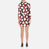 Boutique Moschino Women's Heart Print Wrap Around Dress - Multi: Image 3