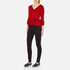 Boutique Moschino Women's Peplum Flared Sleeve Jumper - Red: Image 4