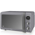Swan SM22030GRN 800W Retro Digital Microwave - Grey: Image 1