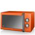 Swan SM22070ON 25L Retro Manual Microwave - Orange: Image 1