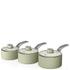 Swan Retro Saucepan Set - Green (3 Piece): Image 1