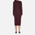McQ Alexander McQueen Women's Side Slit Sweater Dress - Port: Image 3