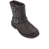 UGG Kids' Harwell Leather Biker Boots - Black: Image 2