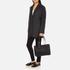 DKNY Women's Gansevoort Pinstripe Quilted Shopper Tote Bag - Black: Image 7