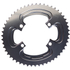 AbsoluteBLACK 110BCD 4 Bolt Spider Mount Aero Oval Chain Ring (Training): Image 1