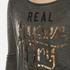Superdry Women's Slubby Graphic Knitted Jumper - Khaki Twist: Image 5