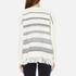 Woolrich Women's Soft Blanket Sweater - Frost White Stripe: Image 3